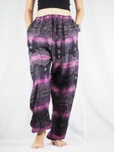 Load image into Gallery viewer, Paisley Buddha Unisex Drawstring Genie Pants in Purple PP0110 020002 06