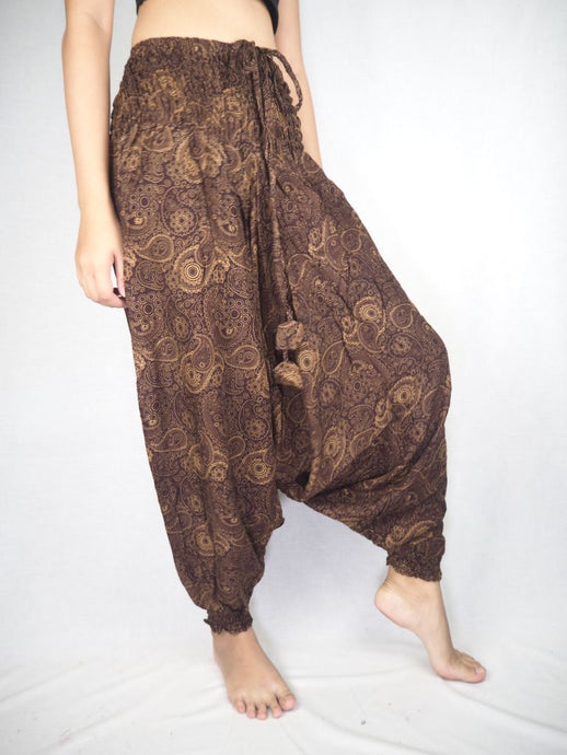 Paisley Mistery Unisex Aladdin drop crotch pants in Brown PP0056 020016 07