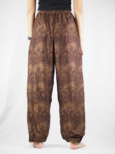 Paisley Mistery Unisex Drawstring Genie Pants in Brown PP0110 020016 07