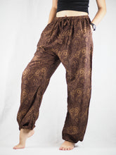 Load image into Gallery viewer, Paisley Mistery Unisex Drawstring Genie Pants in Brown PP0110 020016 07