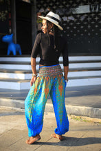 Load image into Gallery viewer, Peacock 35 women harem pants in Blue PP0004 020035 04