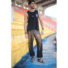 Load image into Gallery viewer, Peacock 7 men/women harem pants in Black Gold PP0004 020007 04