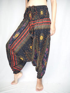 Peacock Eye Unisex Aladdin drop crotch pants in Black PP0056 020003 01