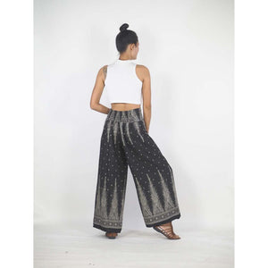 Peacock Feather Dream Women Palazzo Pants in Black PP0076 020015 09
