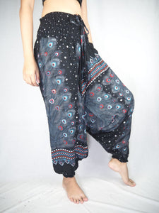 Peacock Heaven Unisex Aladdin drop crotch pants in Black PP0056 020058 01