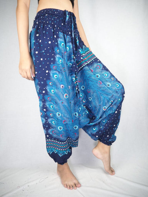 Peacock Heaven Unisex Aladdin drop crotch pants in Navy PP0056 020058 03