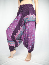 Load image into Gallery viewer, Peacock Heaven Unisex Aladdin drop crotch pants in Purple PP0056 020058 04