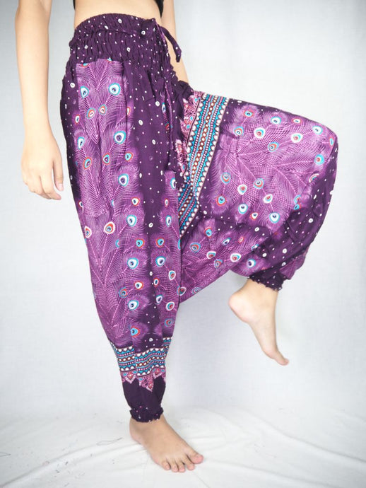 Peacock Heaven Unisex Aladdin drop crotch pants in Purple PP0056 020058 04