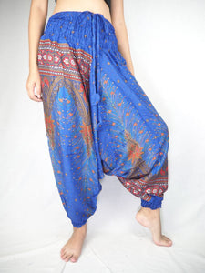 Peacock Unisex Aladdin drop crotch pants in Bright Navy PP0056 020007 03
