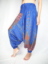 Load image into Gallery viewer, Peacock Unisex Aladdin drop crotch pants in Bright Navy PP0056 020007 03