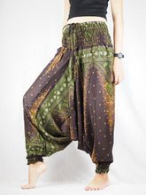 Load image into Gallery viewer, Peacock Unisex Aladdin drop crotch pants in Brown PP0056 020042 04