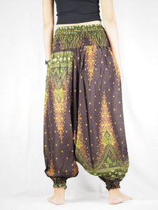 Peacock Unisex Aladdin drop crotch pants in Brown PP0056 020042 04