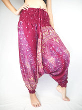 Load image into Gallery viewer, Peacock Unisex Aladdin drop crotch pants in Dark red PP0056 020008 02