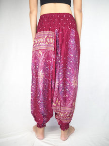 Peacock Unisex Aladdin drop crotch pants in Dark red PP0056 020008 02