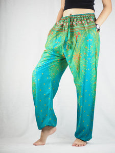 Peacock Unisex Drawstring Genie Pants in Bright Green PP0110 020008 04