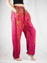 Load image into Gallery viewer, Peacock Unisex Drawstring Genie Pants in Pink PP0110 020008 01