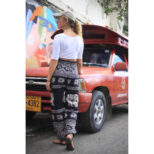 Load image into Gallery viewer, Pirate elephant 23 men/women harem pants in Black PP0004 020023 01