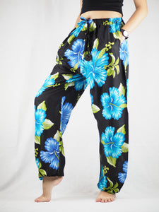 Princess Mandala Unisex Drawstring Genie Pants in Blue PP0110 020020 03
