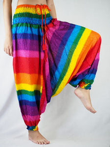 Rainbow Unisex Aladdin Drop Crotch Pants in Rainbow PP0056 020046 01