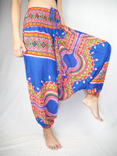 Load image into Gallery viewer, Regue  Unisex Aladdin drop crotch pants in Bright Navy PP0056 020043 04