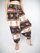 Load image into Gallery viewer, Royal Elephant Unisex Aladdin drop crotch pants in Black PP0056 020024 01