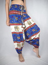 Load image into Gallery viewer, Royal Elephant Unisex Aladdin drop crotch pants in Bright Navy PP0056 020024 03