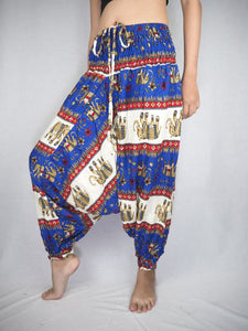 Royal Elephant Unisex Aladdin drop crotch pants in Bright Navy PP0056 020024 03