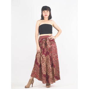Temple Flower Women's Bohemian Skirt in Red SK0015 020159 03