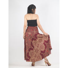 Load image into Gallery viewer, Temple Flower Women's Bohemian Skirt in Red SK0015 020159 03