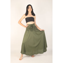Load image into Gallery viewer, Solid Color Women's Bohemian Skirt in Olive SK0033 020000 13