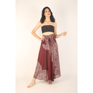 Floral Mandala Women's Bohemian Skirt in Red SK0033 020036 05