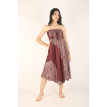 Load image into Gallery viewer, Floral Mandala Women's Bohemian Skirt in Red SK0033 020036 05