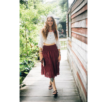 Load image into Gallery viewer, Solid Color Women Skirts in Burgundy SK0086 020000 15