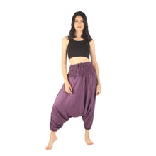 Load image into Gallery viewer, Solid Color Unisex Aladdin Drop Crotch Pants in Purple PP0056 020000 06