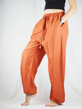 Load image into Gallery viewer, Solid Color Unisex Drawstring Genie Pants in Orange PP0110 020000 11