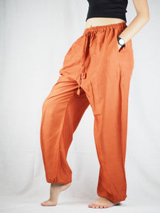 Solid Color Unisex Drawstring Genie Pants in Orange PP0110 020000 11