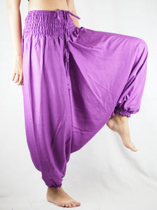 Solid Color Unisex Aladdin Drop Crotch Pants in Magenta PP0056 020000 18