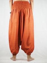 Load image into Gallery viewer, Solid color Unisex Aladdin drop crotch pants in Orange PP0056 020000 11