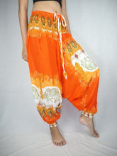 Load image into Gallery viewer, Solid Top Elephant Unisex Aladdin drop crotch pants in Orange PP0056 020017 03