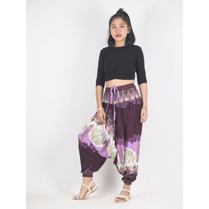 Solid Top Elephant Unisex Aladdin drop crotch pants in Purple PP0056 020018 01