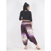 Load image into Gallery viewer, Solid Top Elephant Unisex Aladdin drop crotch pants in Purple PP0056 020018 01