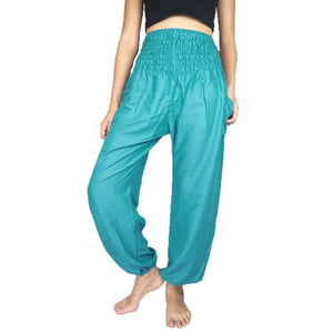 Solid color women harem pants in Aqua PP0004 020000 09