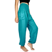 Load image into Gallery viewer, Solid color women harem pants in Aqua PP0004 020000 09