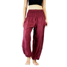 Load image into Gallery viewer, Solid color women harem pants in Burgundy PP0004 020000 15