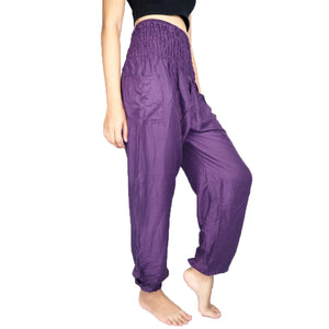 Solid color women harem pants in Purple PP0004 020000 06