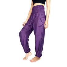 Load image into Gallery viewer, Solid color women harem pants in Purple PP0004 020000 06