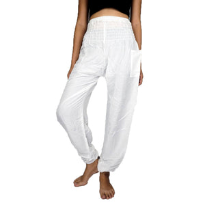 Solid color women harem pants in White PP0004 020000 04
