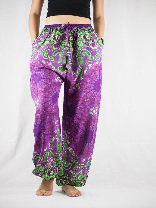 Sunflower Unisex Drawstring Genie Pants in Purple PP0110 020054 02