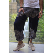Load image into Gallery viewer, Floral mandala 36 women harem pants in Black PP0004 020036 02