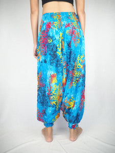Tie dye  Unisex Aladdin drop crotch pants in Blue PP0056 020037 05